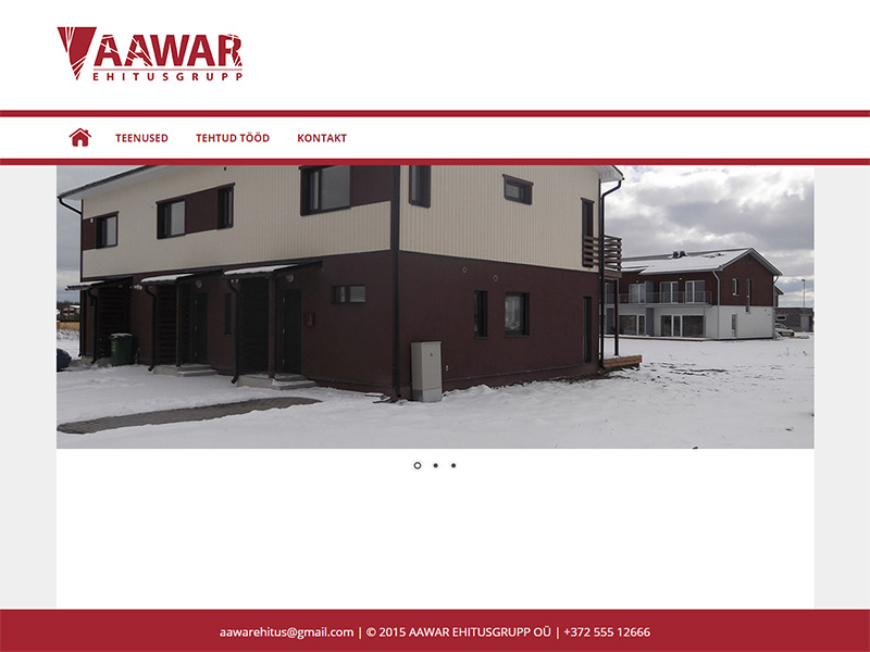Aawar ehituse kodulehekülg
