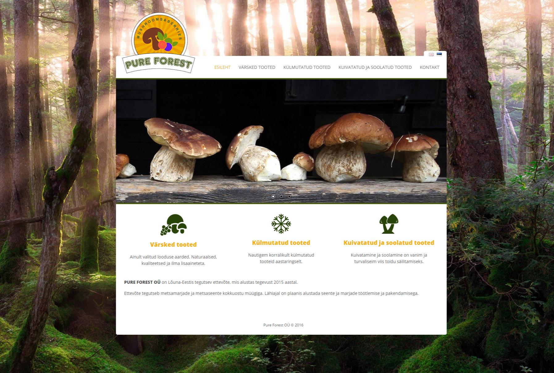 Pure Forest veebileht