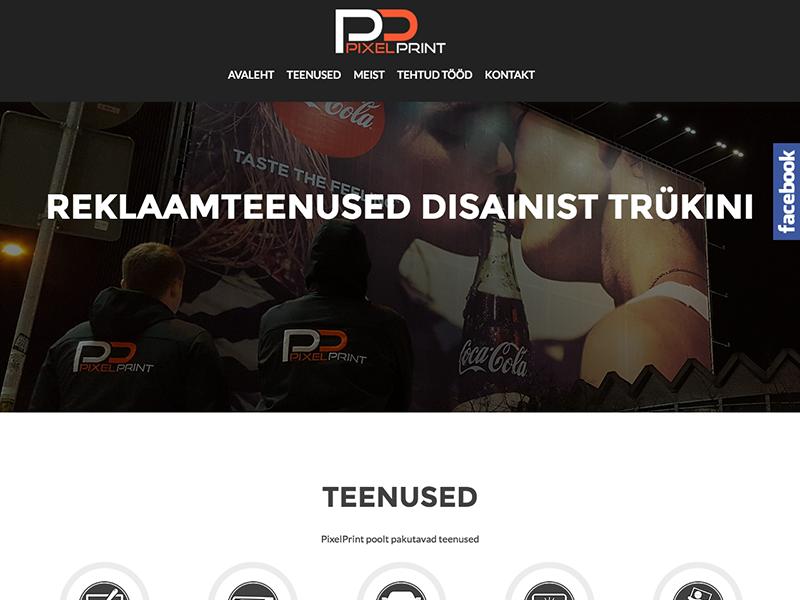 Pixelprint'i veebileht