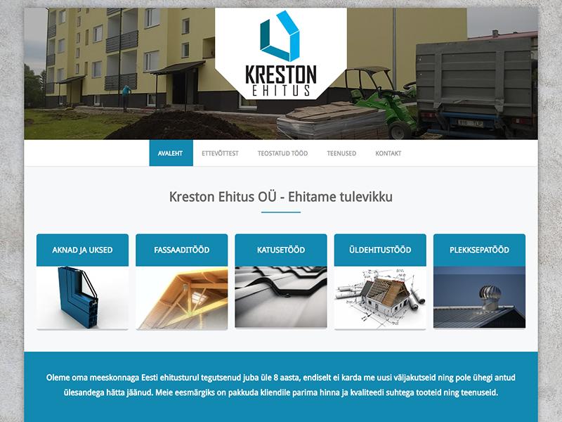 Kreston ehituse veebileht