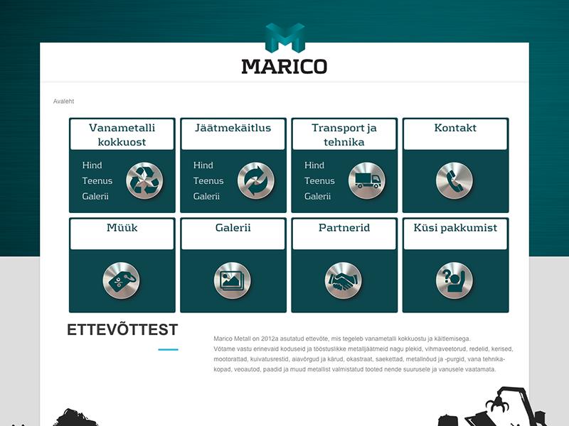 Marico Metalli veebileht